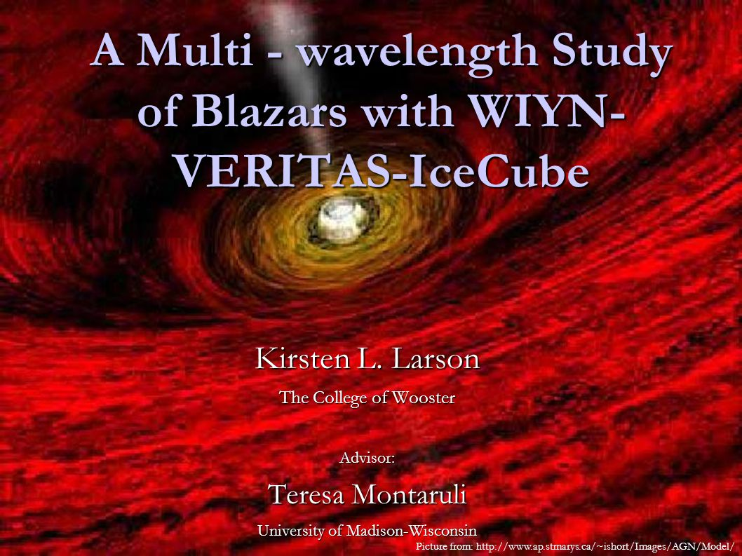 A Multi - wavelength Study of Blazars with WIYN- VERITAS-IceCube Kirsten L.
