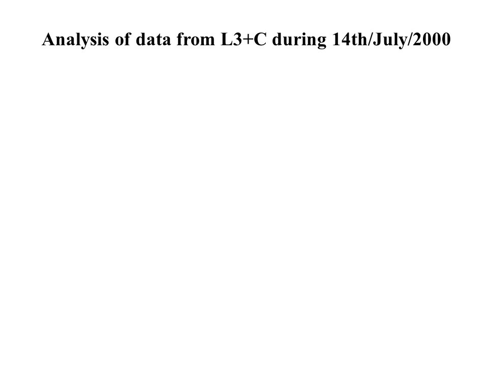 Analysis of data from L3+C during 14th/July/2000