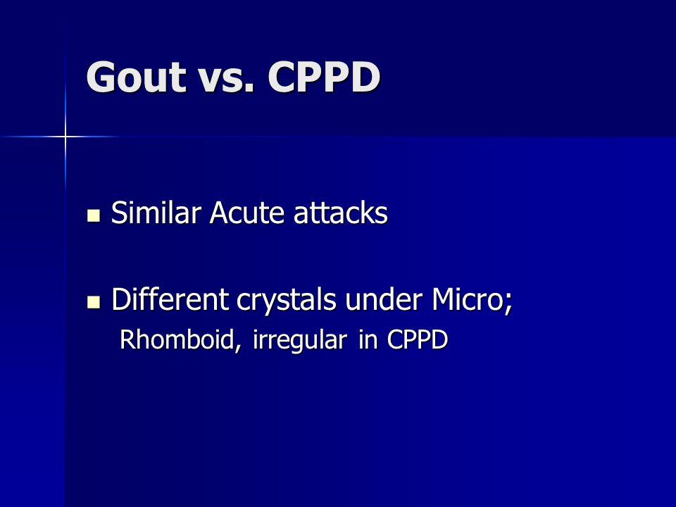 Gout vs.