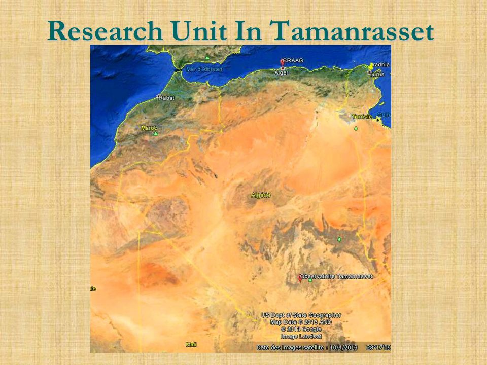 Research Unit In Tamanrasset