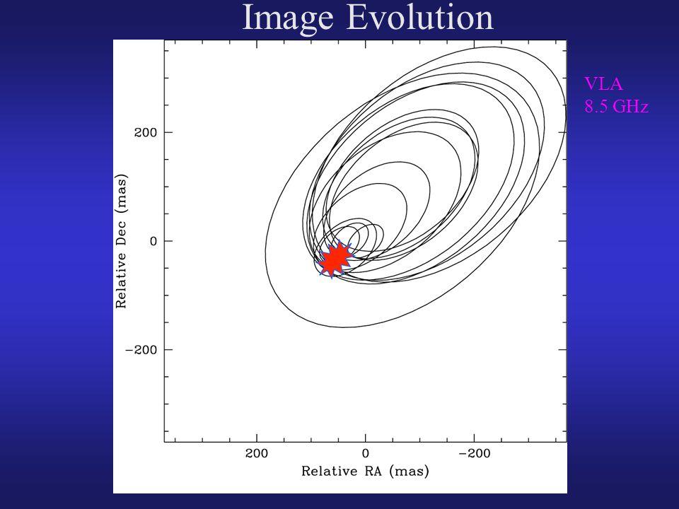 Image Evolution VLA 8.5 GHz