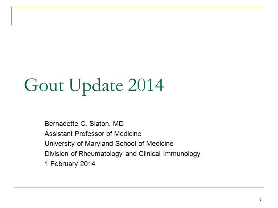 Proportion of subjects with last 3 monthly sUA <6 Schumacher HR, et al. Arthritis Rheum 2008. 32