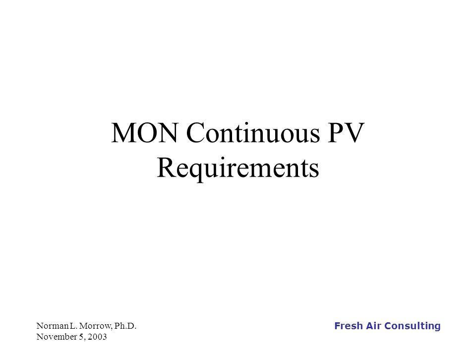 Fresh Air Consulting Norman L.Morrow, Ph.D.