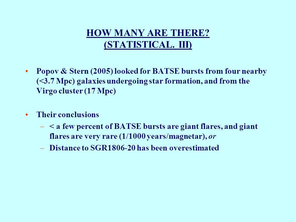 GRB051103 – A POSSIBLE EXTRAGALACTIC GIANT MAGNETAR FLARE FROM M81 (3.6 Mpc) IPN Error Ellipse M81 M82 Swift BAT 15-150 keV (Not imaged) E γ =7x10 46 erg Frederiks et al.