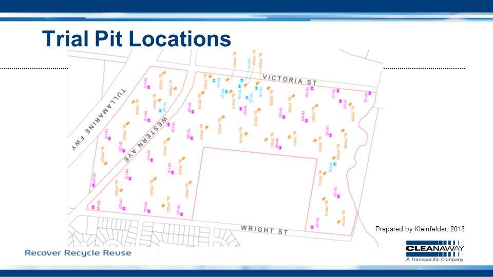 Trial Pit Locations Prepared by Kleinfelder, 2013