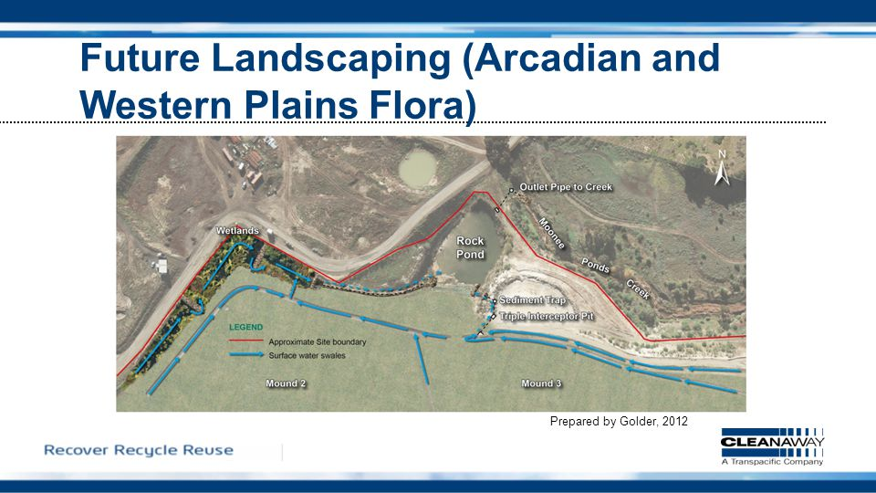 Future Landscaping (Arcadian and Western Plains Flora) Prepared by Golder, 2012