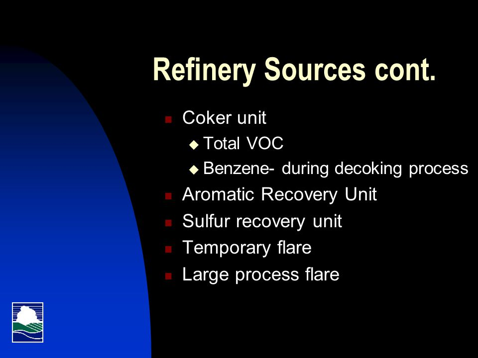 Refinery Sources cont.