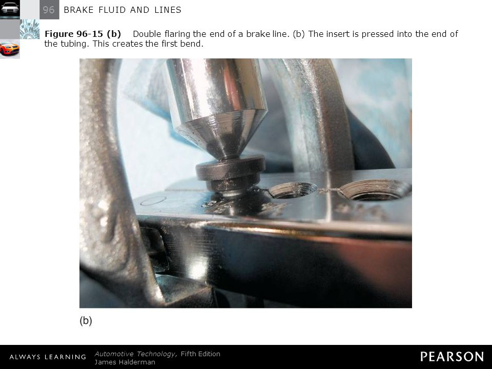 96 BRAKE FLUID AND LINES Automotive Technology, Fifth Edition James Halderman © 2011 Pearson Education, Inc. All Rights Reserved Figure 96-15 (b) Doub
