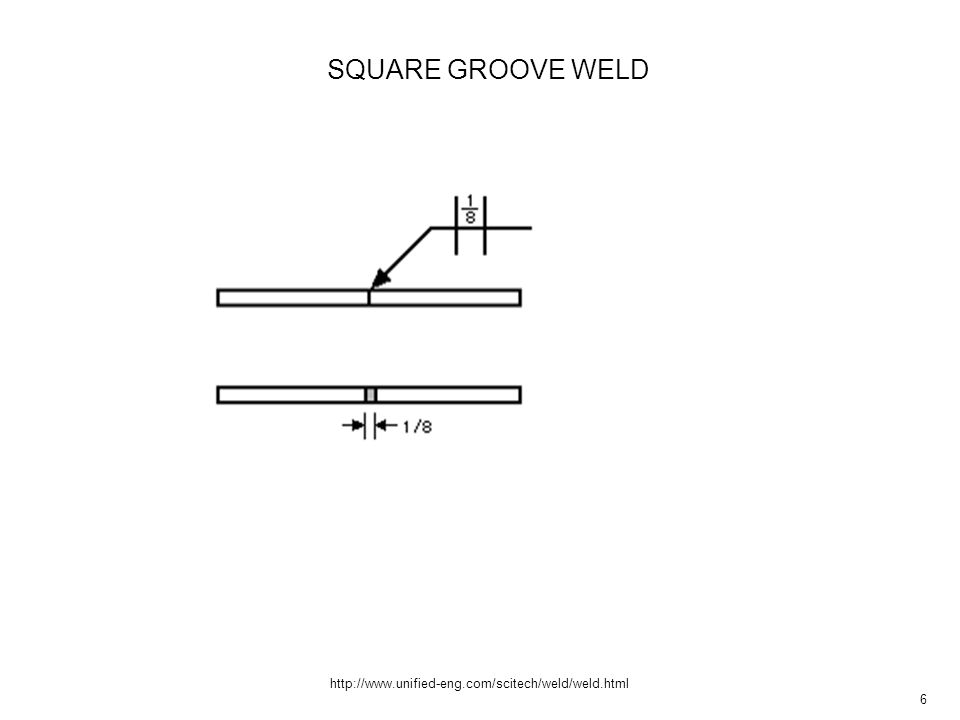 7 http://www.unified-eng.com/scitech/weld/weld.html V groove V GROOVE WELD