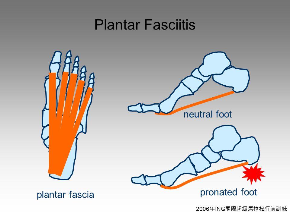 2006 年 ING 國際超級馬拉松行前訓練 Plantar Fasciitis plantar fascia pronated foot neutral foot