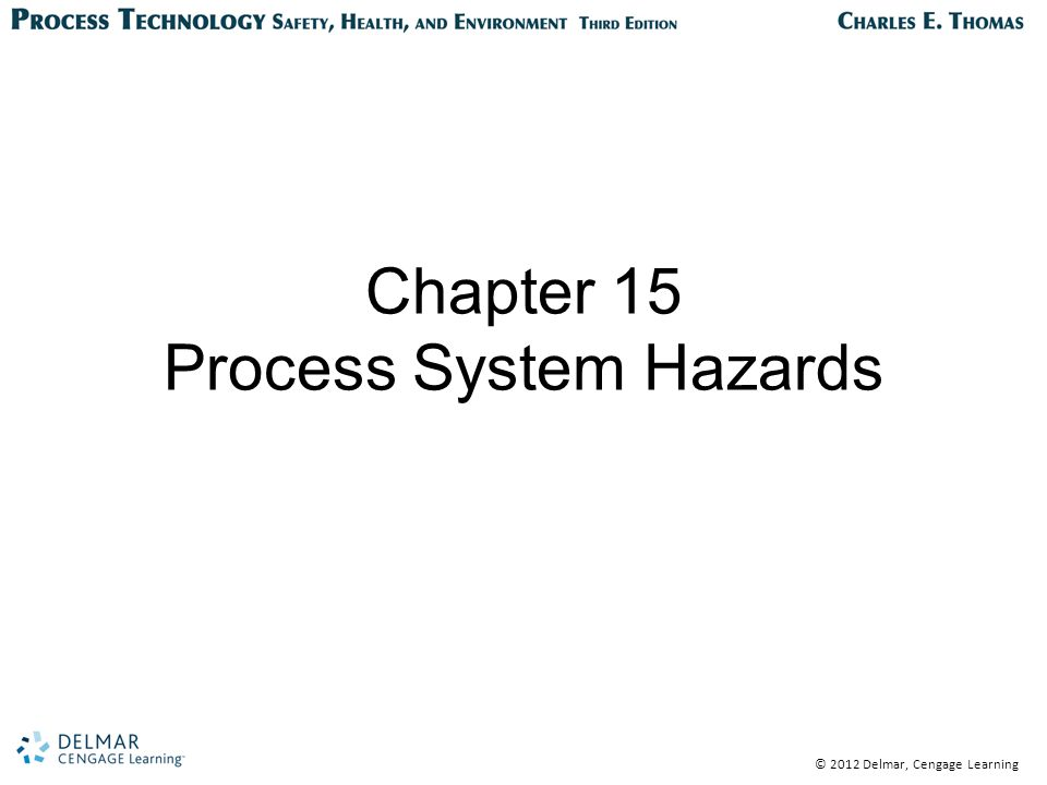© 2012 Delmar, Cengage Learning Operating Hazards Equipment and systems Weather Chemistry and chemicals