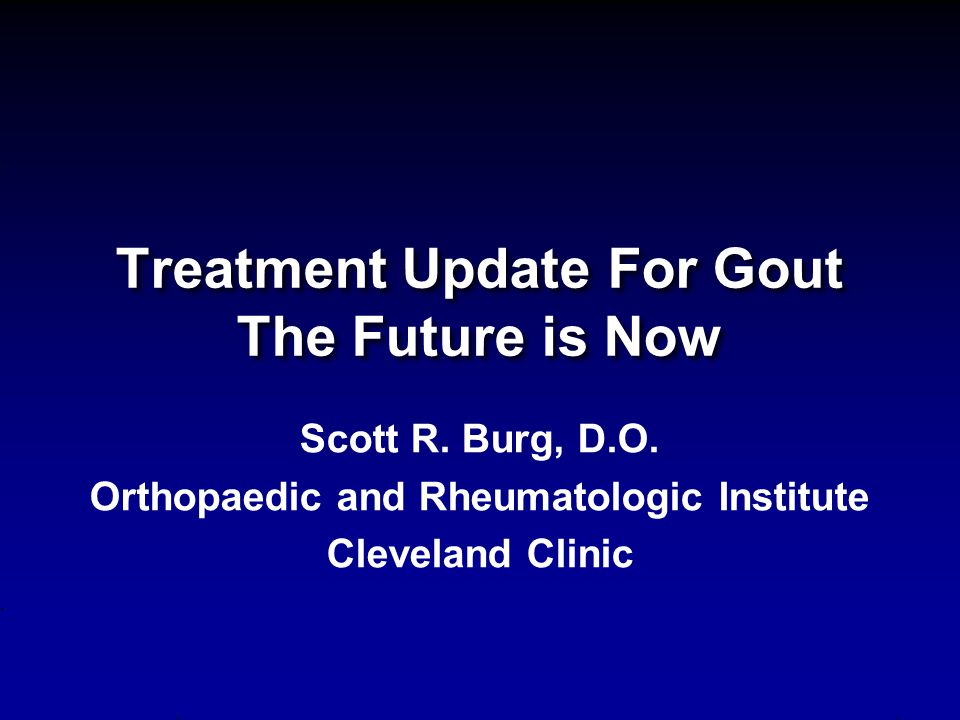 Take-Away Messages The goal of therapy in subjects with multiple recurrent gout flares or tophaceous gout is to prevent disease progression by reducing the body urate burden.
