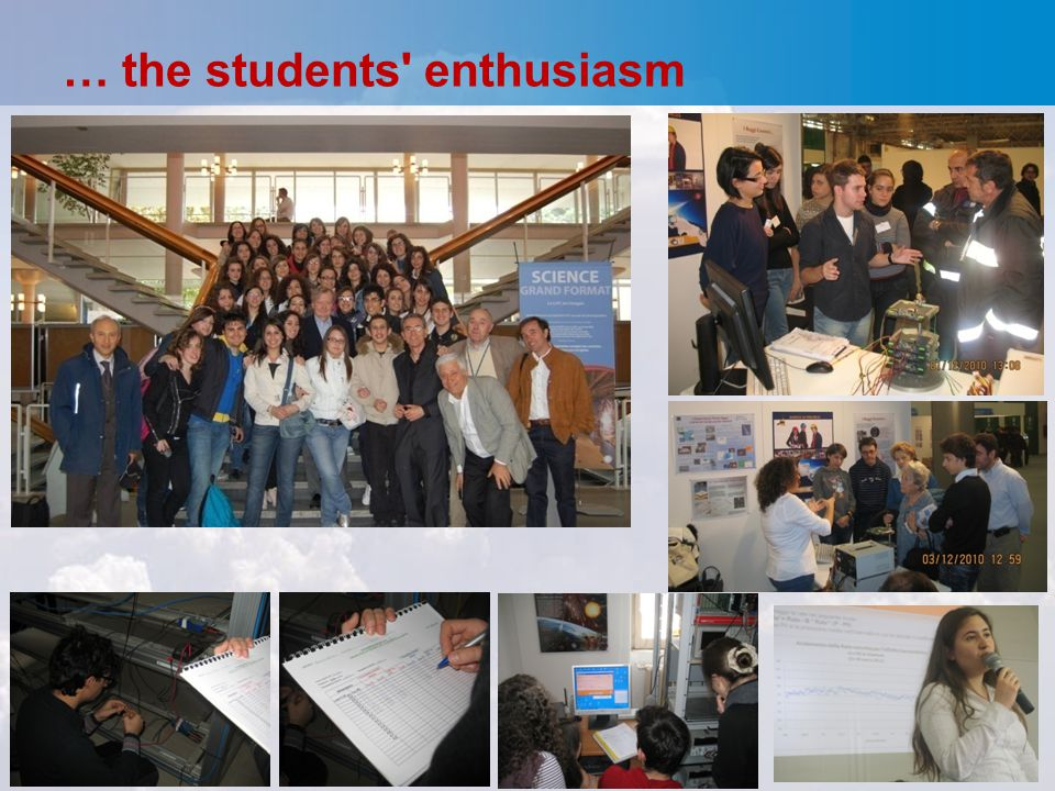 … the students' enthusiasm