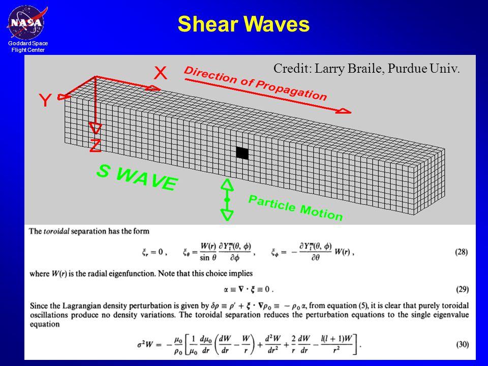 Goddard Space Flight Center Shear Waves Credit: Larry Braile, Purdue Univ.