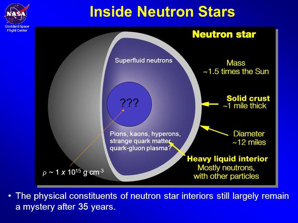 Goddard Space Flight Center Inside Neutron Stars ??.