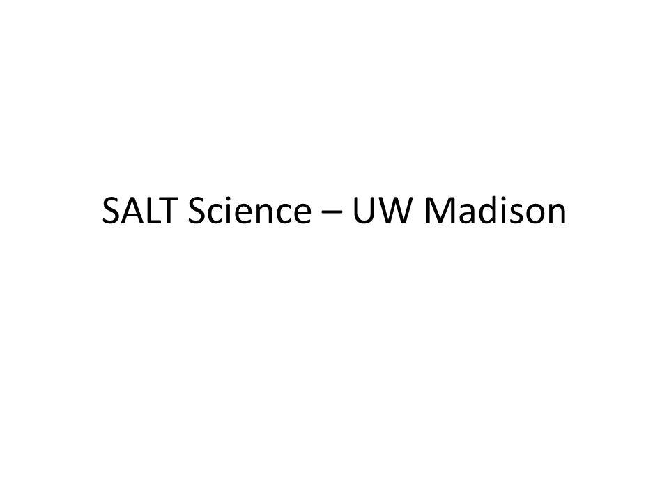 SALT Science – UW Madison