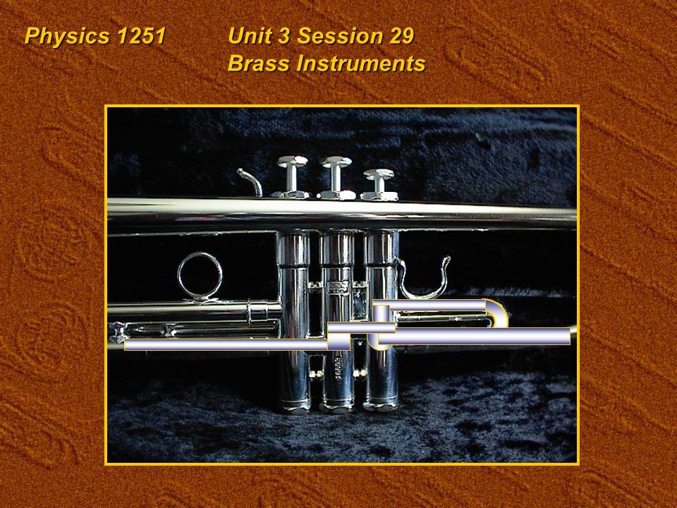 Physics 1251Unit 3 Session 29 Brass Instruments