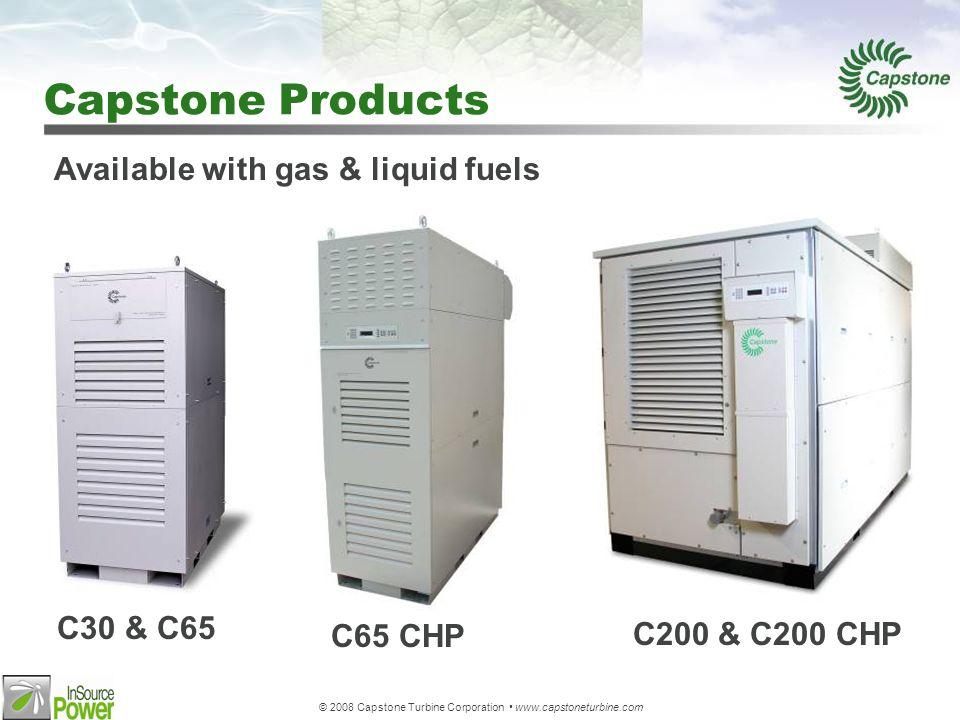 © 2008 Capstone Turbine Corporation www.capstoneturbine.com Oil & Gas Specific Applications