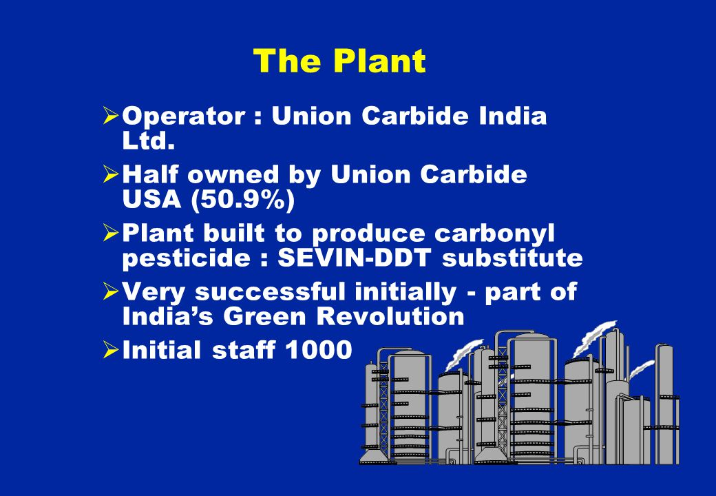  Operator : Union Carbide India Ltd.