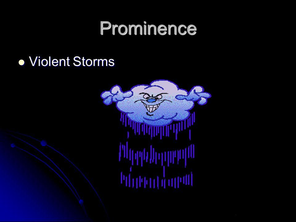 Prominence Violent Storms Violent Storms