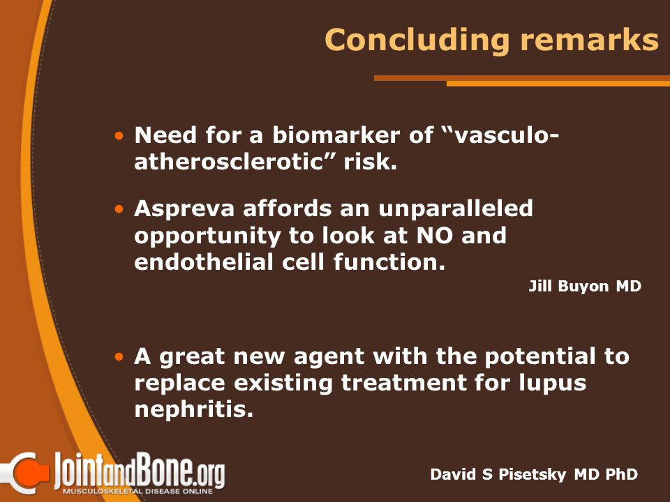Concluding remarks Need for a biomarker of vasculo- atherosclerotic risk.