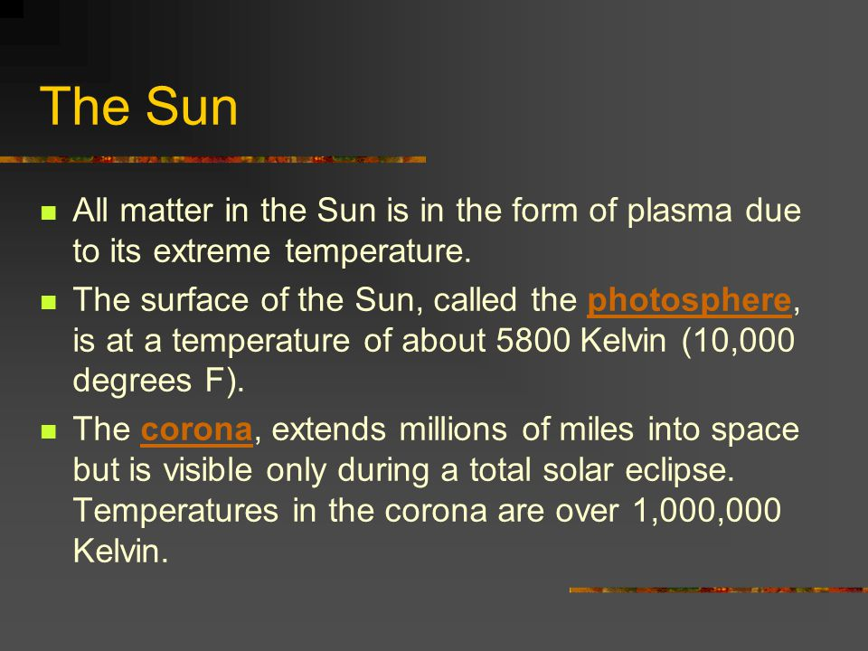 The Sun The Sun s energy output of 386 billion billion megawatts is produced by nuclear fusion reactions.