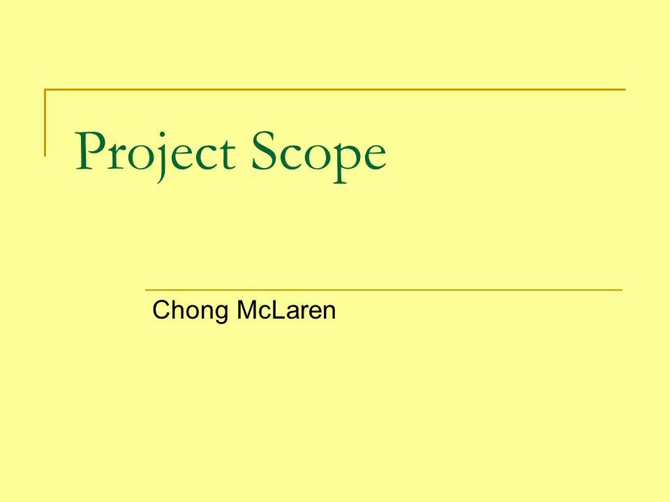 Project Scope Chong McLaren
