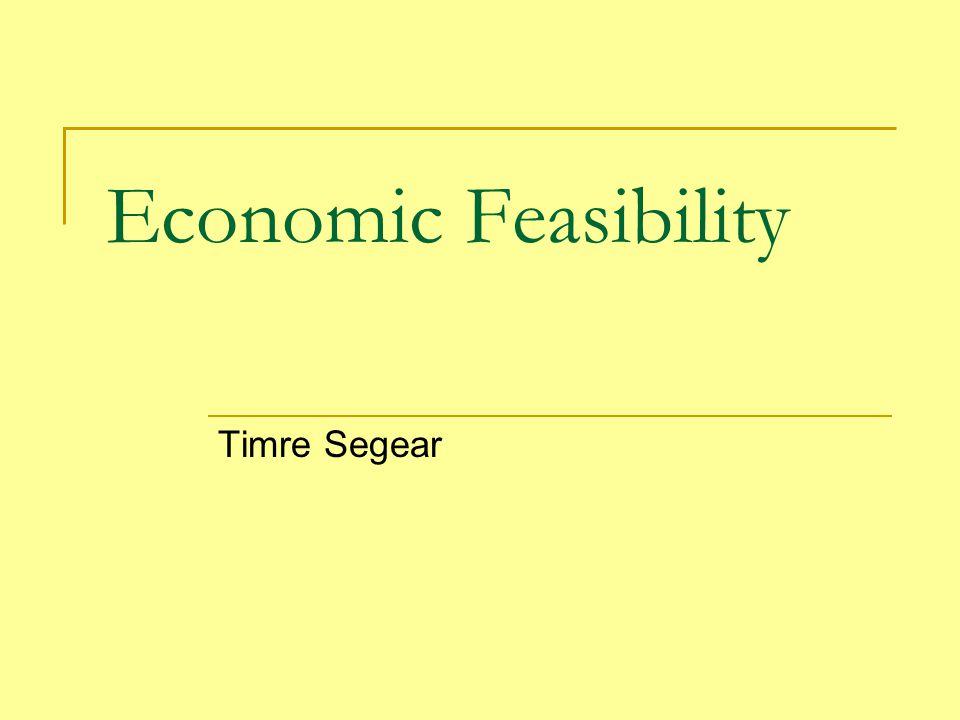 Economic Feasibility Timre Segear