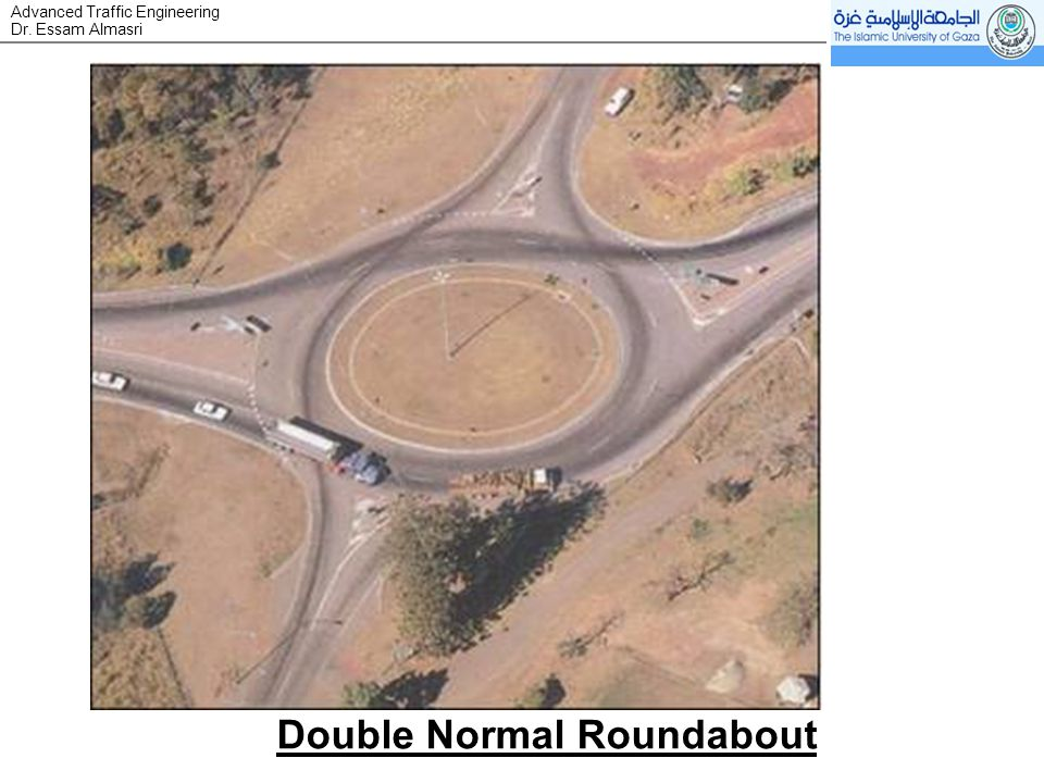 Dr. Essam Almasri Advanced Traffic Engineering Double Normal Roundabout