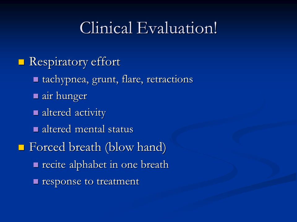 Clinical Evaluation.