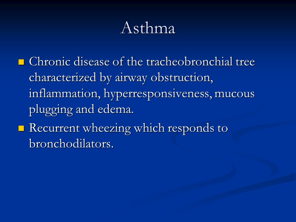 Bronchiolitis Inflammation of bronchioles Inflammation of bronchioles Usually refers to children under 2 who have a viral URI with some intrathoracic symptoms (wheeze, cough, tightness) Usually refers to children under 2 who have a viral URI with some intrathoracic symptoms (wheeze, cough, tightness)