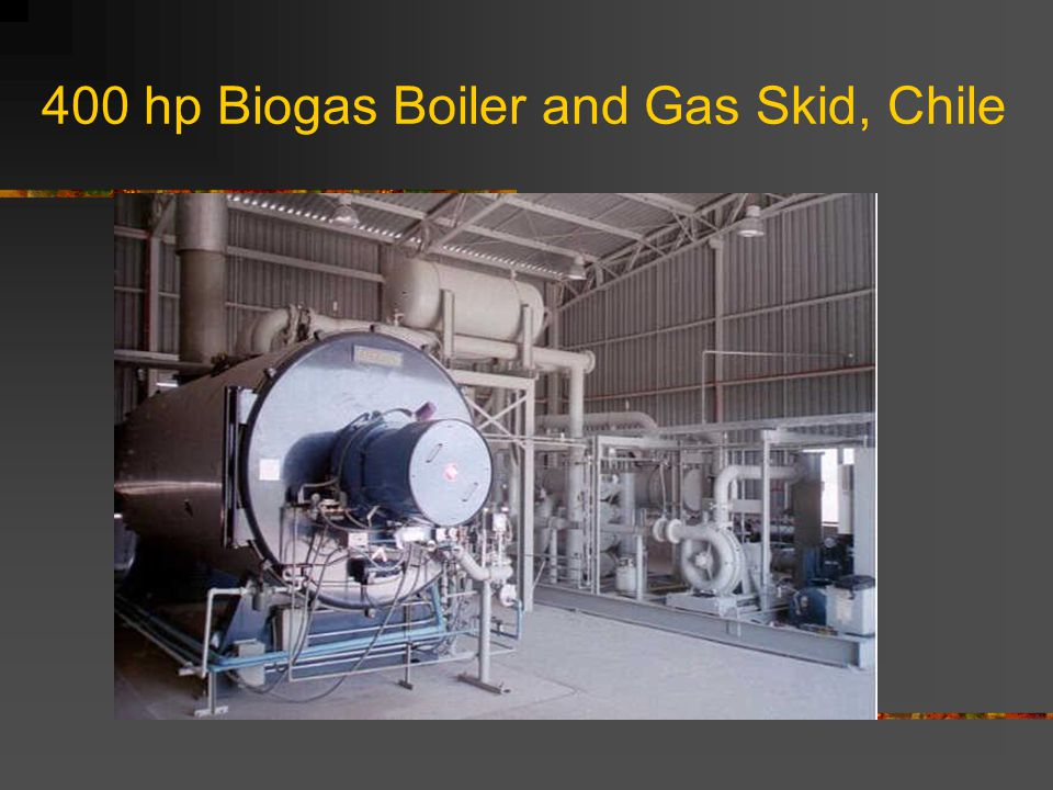 400 hp Biogas Boiler and Gas Skid, Chile