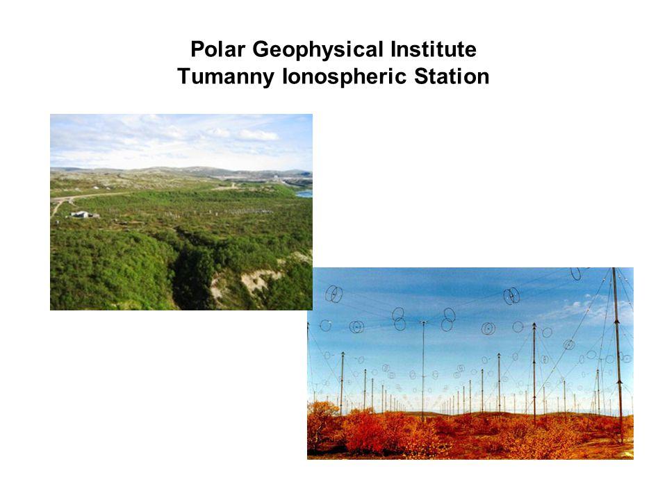 Polar Geophysical Institute Tumanny Ionospheric Station