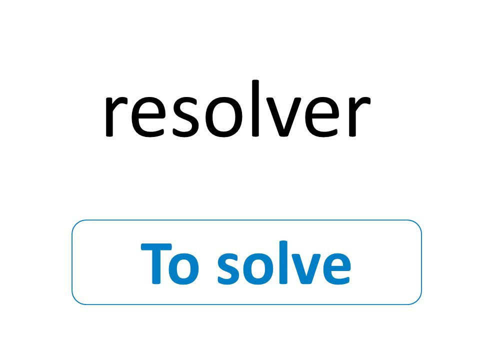 To solve resolver