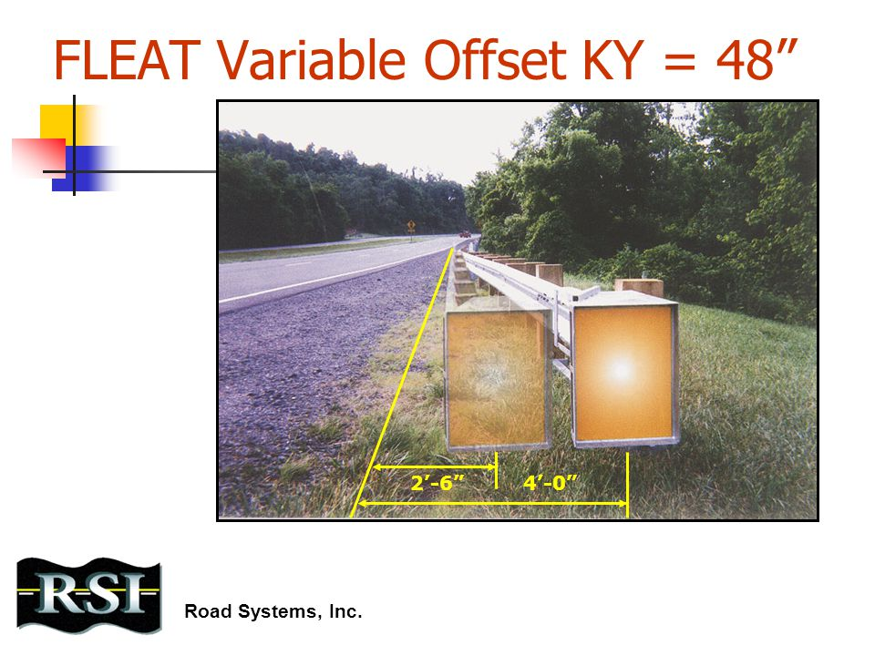 "FLEAT Variable Offset KY = 48"" 2'-6""4'-0"" Road Systems, Inc."