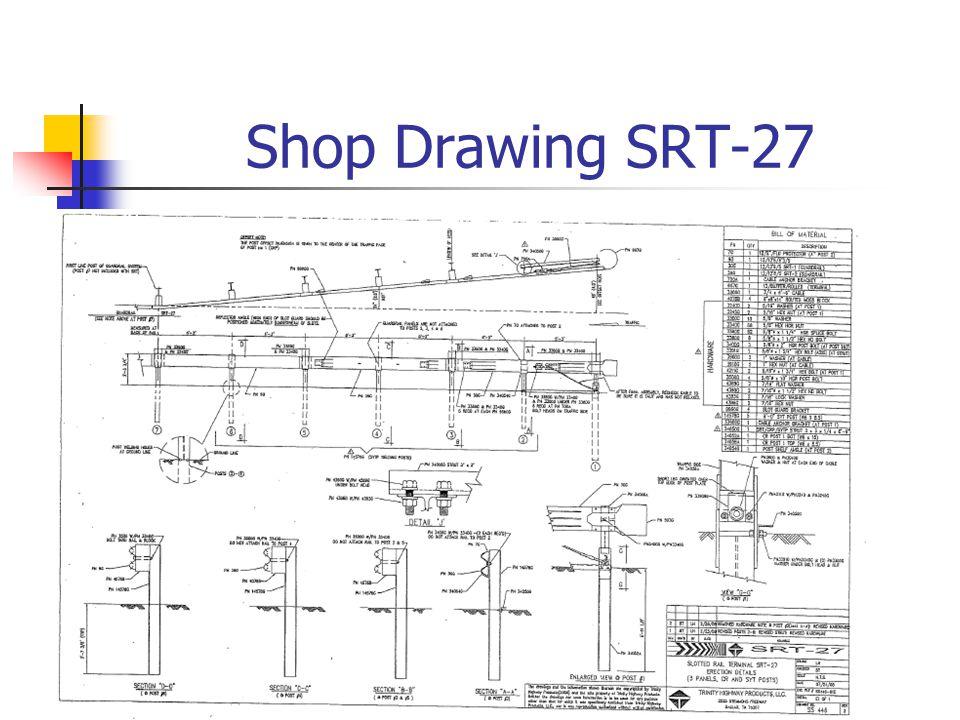 SRT-27 Title Block and Parts List SRT-27 ERECTION DETAILS( 3 PANELS and CR and SYT POST)