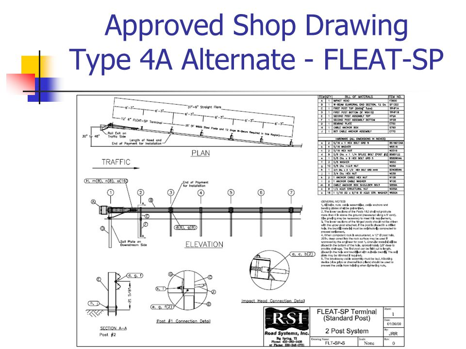 Approved Shop Drawing Type 4A Alternate - FLEAT-SP