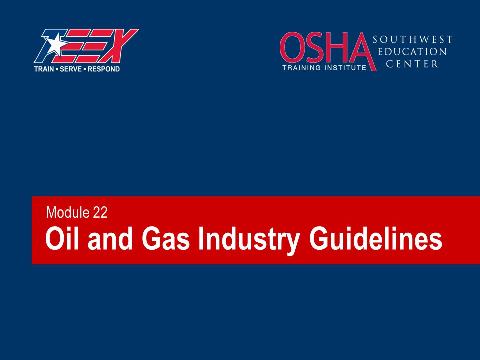 Oil and Gas Industry Guidelines Module 22