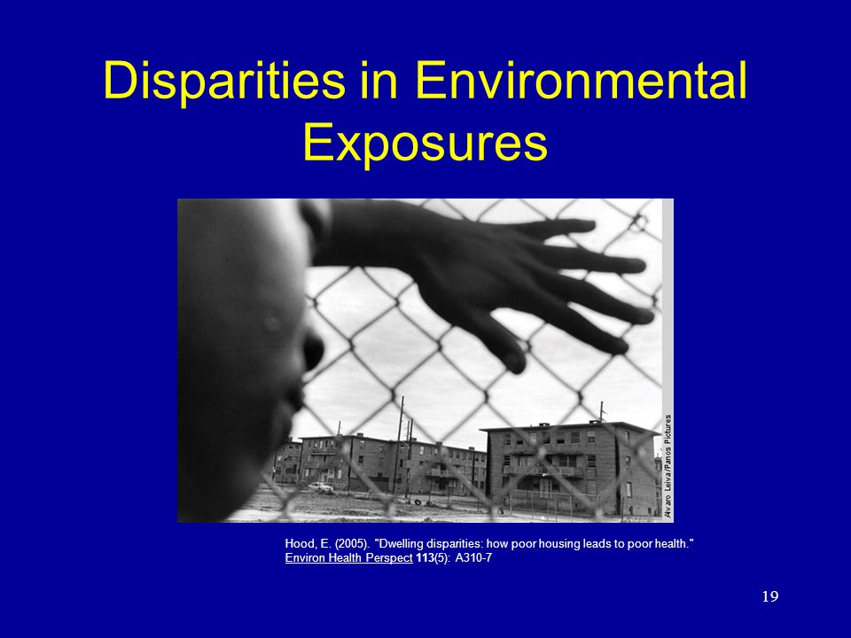 19 Disparities in Environmental Exposures Hood, E.