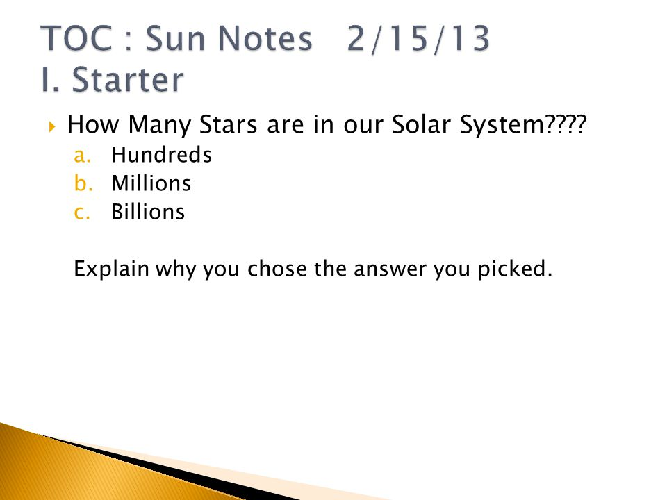  How Many Stars are in our Solar System .