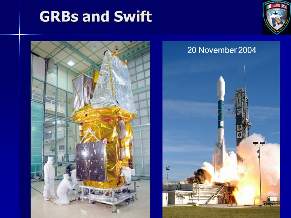 GRBs and Swift 20 November 2004
