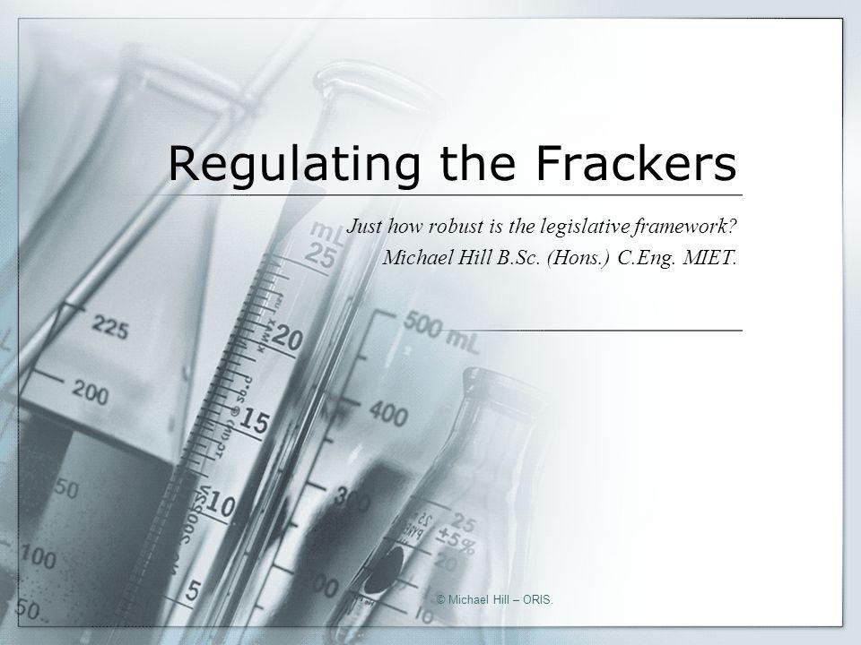 Flowback.Chemicals. Quantities. © Michael Hill – ORIS.