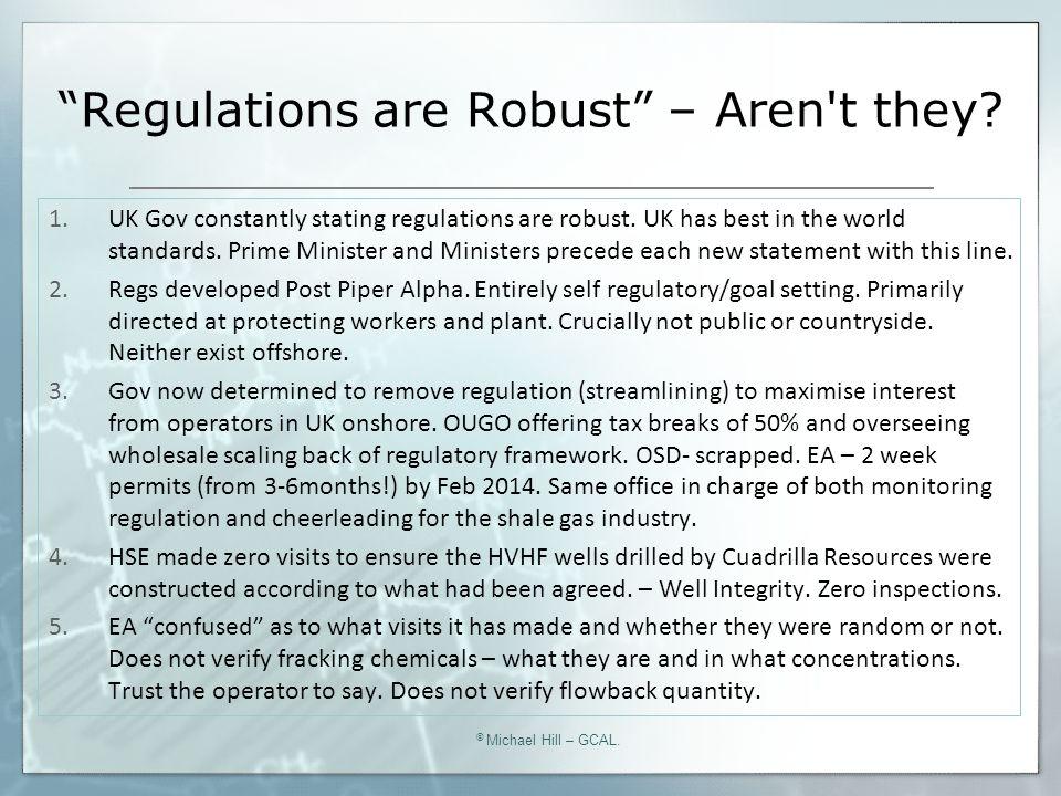 Regulation in the U.K.