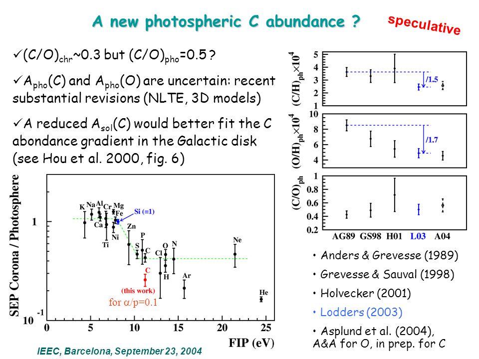 A new photospheric C abundance .