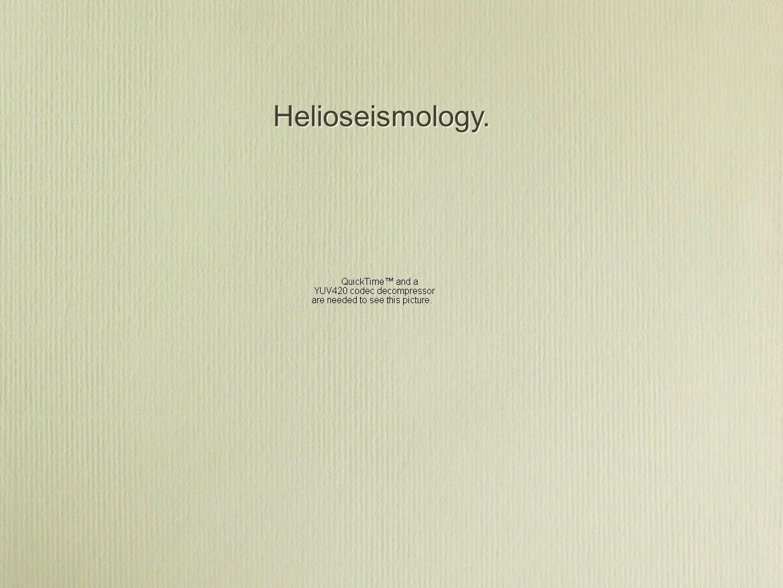 Helioseismology.