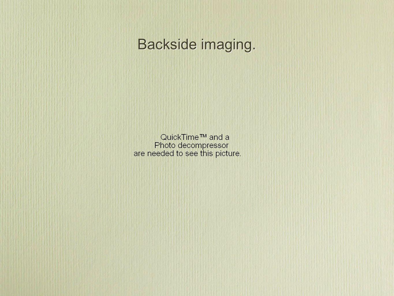 Backside imaging.