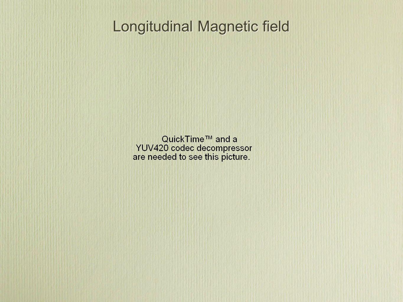 Longitudinal Magnetic field