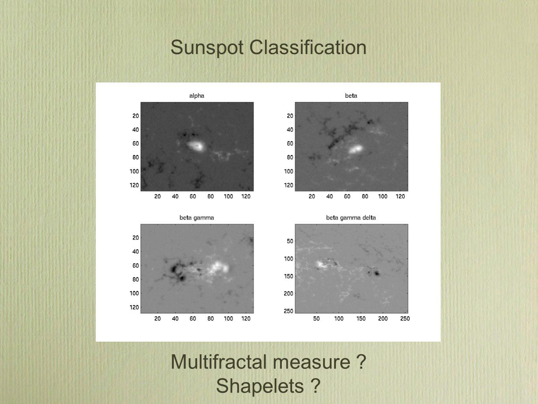 Sunspot Classification Multifractal measure Shapelets