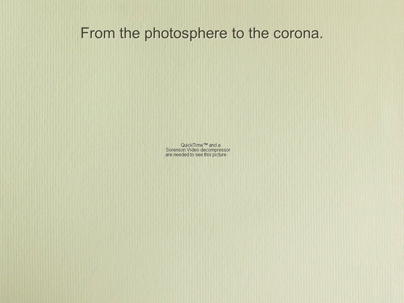 From the photosphere to the corona.