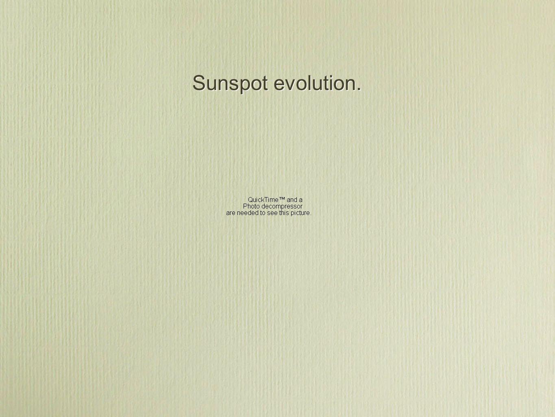 Sunspot evolution.